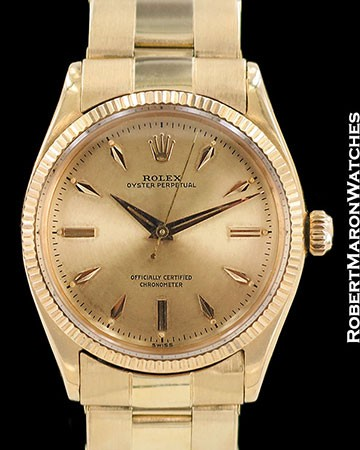 ROLEX VINTAGE OYSTER PERPETUAL 6567 18K ROSE GOLD AUTOMATIC 1958