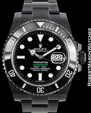 PRO HUNTER ROLEX BLACK SUBMARINER DATE 116610 AUTOMATIC STEEL