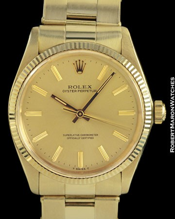 ROLEX 1005 OYSTER PERPETUAL 14K