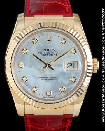 ROLEX 116138 DATEJUST MOTHER OF PEARL DIAMONDS 18K