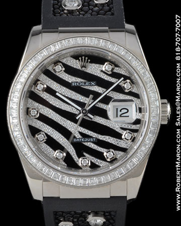ROLEX 116189 DATEJUST DIAMOND 18K