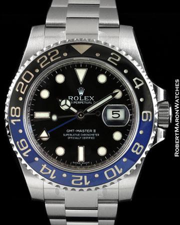 ROLEX 116710 GMT MASTER II CERAMIC STEEL