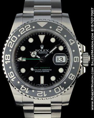 ROLEX 116710 GMT MASTER CERAMIC STEEL