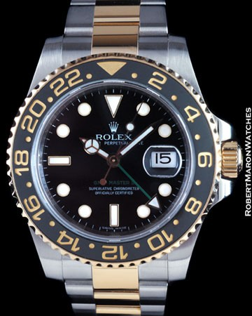 ROLEX 116713 GMT MASTER II CERAMIC 18K STEEL
