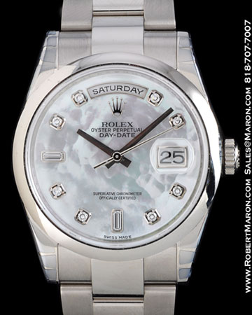ROLEX 118209 DAY DATE MOTHER OF PEARL DIAMOND 18K
