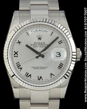 ROLEX 118239 DAY DATE PRESIDENT ROMAN 18K