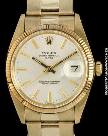 ROLEX 1503 OYSTER PERPETUAL DATE 14K