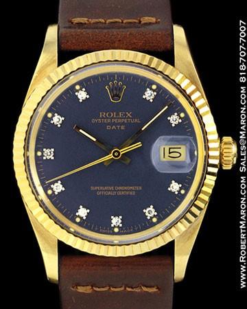 ROLEX 15037 DATE DIAMONDS 14K FORD PRESENTATION WATCH