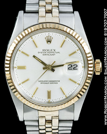 ROLEX 1601 DATEJUST 18K STEEL