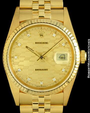 ROLEX 16018 DATEJUST CHEVY JUBILEE DIAMOND 18K