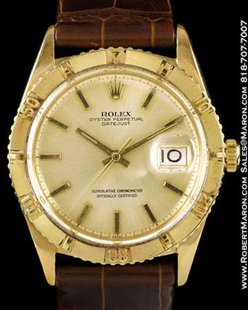 ROLEX 1625 DATEJUST THUNDERBIRD 18K