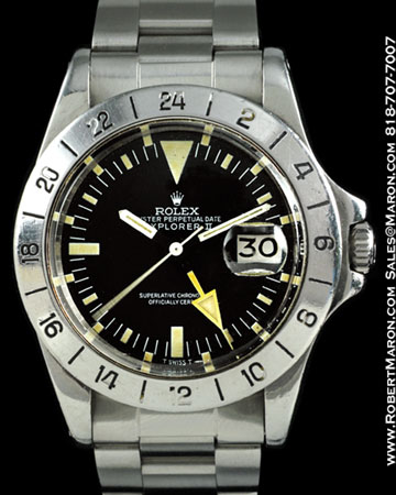ROLEX EXPLORER II 1655 STRAIGHT SECONDS STEEL