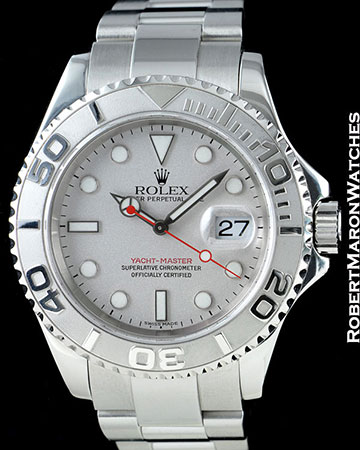 ROLEX YACHTMASTER 16622 STEEL PLATINUM 40MM AUTOMATIC