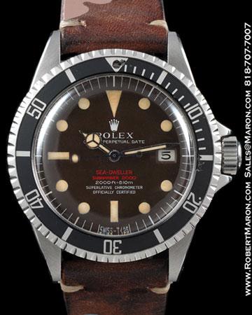 ROLEX 1665 SEA DWELLER PATENT PENDING DOUBLE RED STEEL