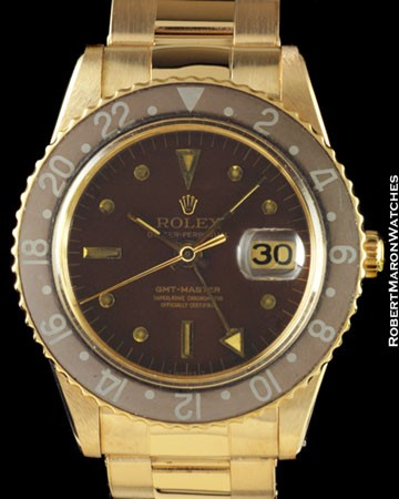 ROLEX 1675 GMT MASTER BROWN 18K