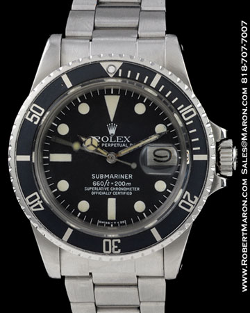 ROLEX SUBMARINER 1680 STEEL