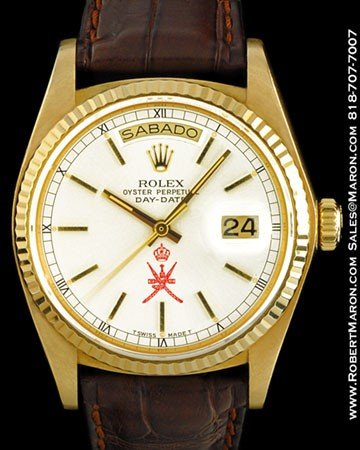 ROLEX 18038 DAY DATE 18K OMANI DIAL