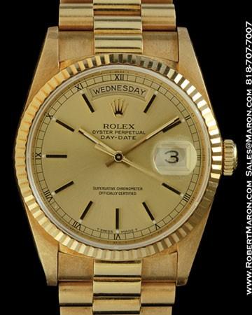 ROLX 18238 DAY DATE PRESIDENT VAN CLEEF & ARPELS 18K