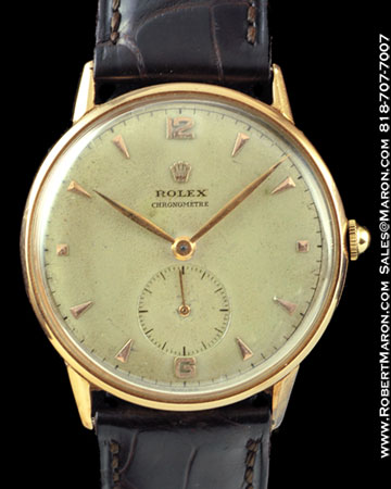 ROLEX 3625 CHRONOMETRE 18K ROSE