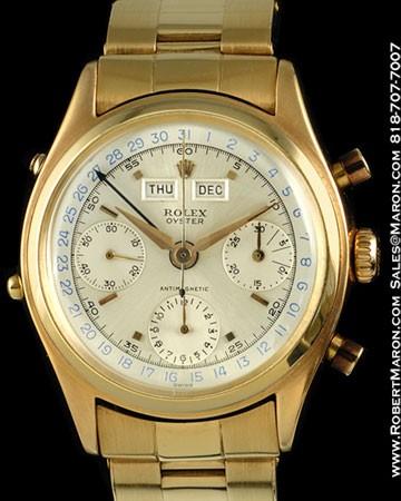 ROLEX 6036 VINTAGE CHRONOGRAPH 18K PINK GOLD