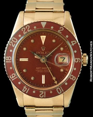 ROLEX 6542 GMT MASTER BAKELITE 18K