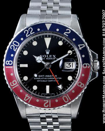 ROLEX GMT MASTER 1675 STEEL
