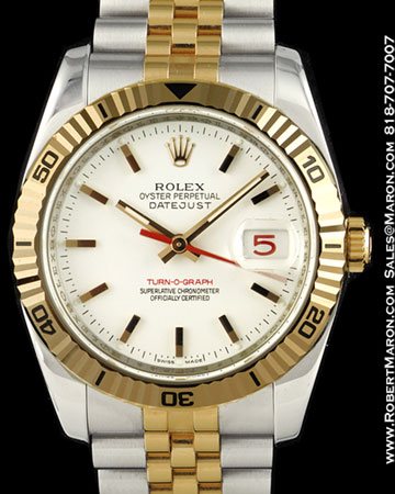 ROLEX OYSTER PERPETUAL DATEJUST 116261 TURN-O-GRAPH STEEL / 18K ROSE GOLD