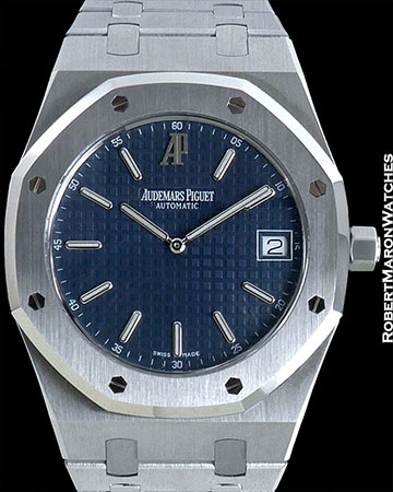 AUDEMARS PIGUET 15202 STAINLESS STEEL BLUE DIAL ROYAL OAK