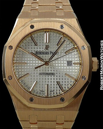 AUDEMARS PIGUET ROYAL OAK 15400 18K ROSE GOLD 41MM NEW