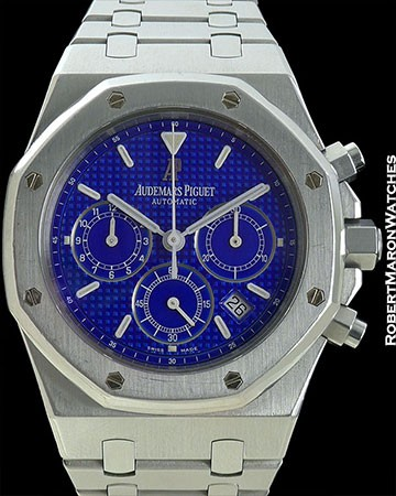 AUDEMARS PIGUET REF 28560 ROYAL OAK CHRONOGRAPH SPECIAL YVES KLEIN BLUE DIAL D SERIES EXTREMELY RARE