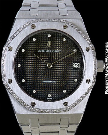 AUDEMARS PIGUET ROYAL OAK JUMBO 4187BC FIRST GEN. 18K WHITE GOLD TROPICAL DIAL