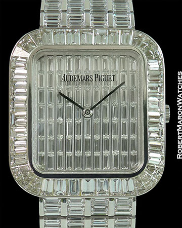 AUDEMARS PIGUET BAGUETTE DIAMOND 18K WHITE GOLD