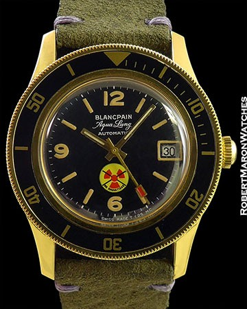 BLANCPAIN AQUA LUNG AUTOMATIC MILITARY US NAVY ISSUED 40MM NEW OLD STOCK