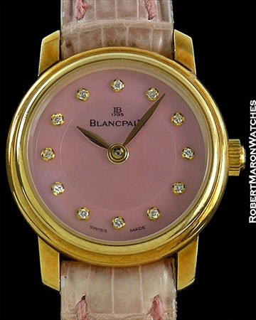 BLANCPAIN LADYBIRD 18K ROSE GOLD LIMITED EDITION MOP DIAL