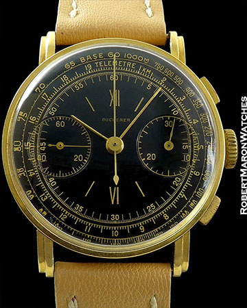 BOUCHERER BLACK GILT DIAL CHRONOGRAPH