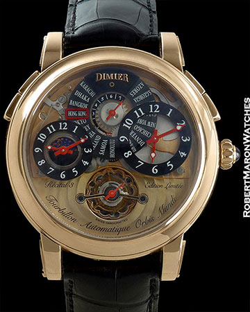 BOVET RECITAL 3 TOURBILLON 18K ROSE GOLD LIMITED TO 50 PIECES MADE