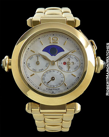 CARTIER PASHA REF W30012 MINUTE REPEATER PERPETUAL BOX/PAPERS
