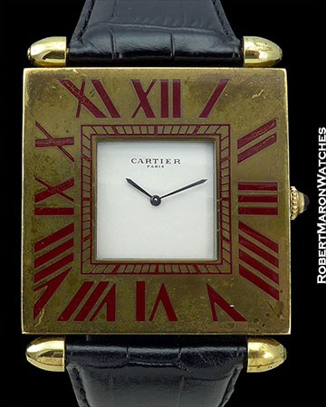 CARTIER GILDED CLOCK WATCH 50mm