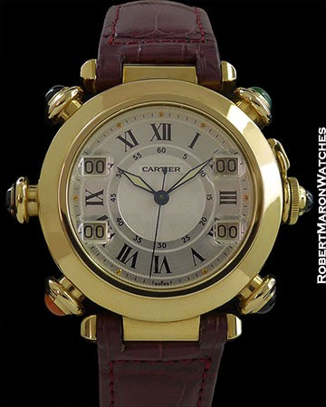 CARTIER PASHA 18K AUTOMATIC GOLF WATCH BOX & PAPERS