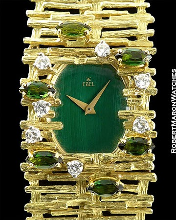 EBEL BAMBOO GREEN DIAL EMERALDS 18K/18K
