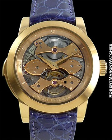 GIRARD PERREGAUX OPERA ONE THREE GOLDEN BRIDGES MINUTE REPEATER TOURBILLON 18K ROSE GOLD