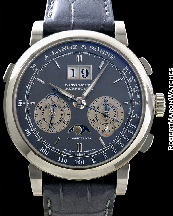 A. LANGE & SOHNE DATOGRAPH PERPETUAL CALENDAR WHITE GOLD 18K BOX/PAPERS