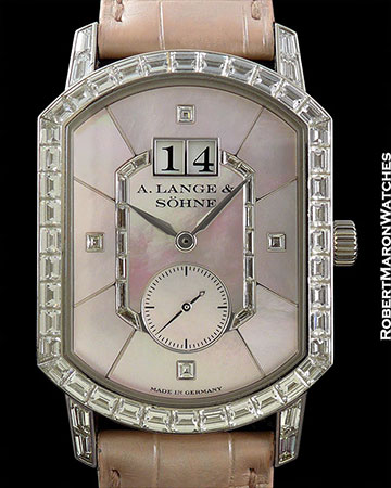 A. LANGE & SOHNE GRAND ARKADE 18K WHITE GOLD W/BAGUETTE DIAMONDS NUMBERED EDITON