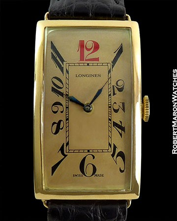 LONGINES TANK ENAMEL 12 RED 18K