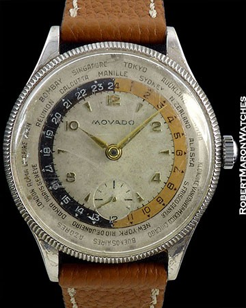MOVADO WORLDTIME STAINLESS STEEL