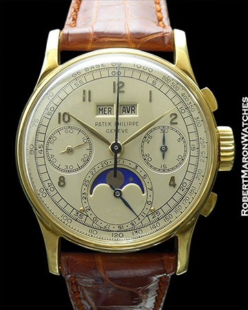 Patek Philippe 1518J 18K Perpetual Chrono-immaculate condition circa 1948
