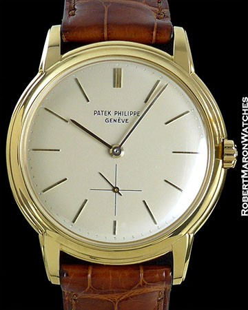 PATEK PHILIPPE 2551 VINTAGE 18K CALATRAVA SCREW BACK AUTOMATIC 1950s DISCO VOLANTE