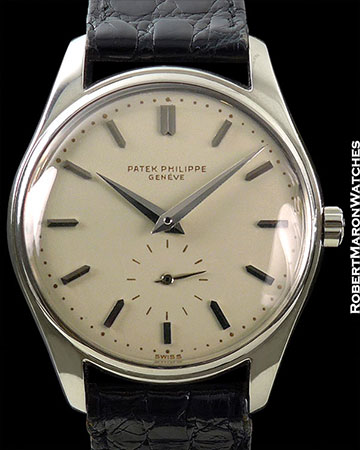 PATEK PHILIPPE 2426 18K WHITE GOLD FLAWLESS ENAMEL DIAL CIRCA 1957