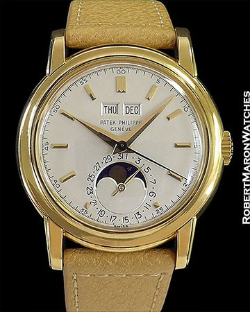 PATEK PHILIPPE 2497J PERPETUAL CALENDAR 18K CENTER SECONDS UNPOLISHED