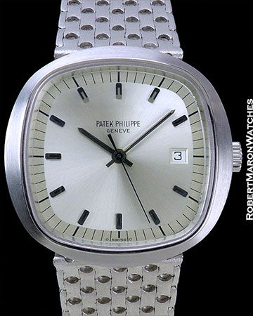 PATEK PHILIPPE 3597/2 BETA 21 18K WHITE GOLD REMOVABLE BRACELET SILVER DIAL